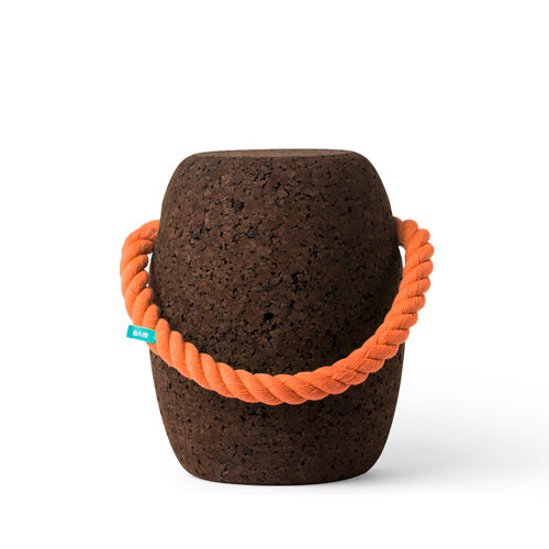 Pipo Cork Stool by Dam Big - Coloured Handles Oange