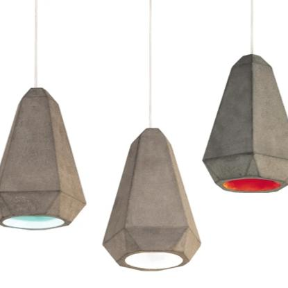 Portland Concrete Pendant Light trio