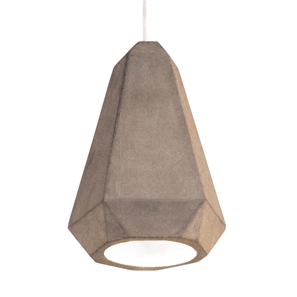 Portland Concrete Pendant Light White Inner