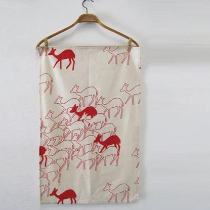 Skinny Laminx Tea Towel Deer Red