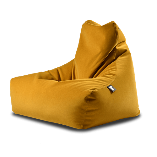 Extreme Lounging Mighty-b Bean bag Chair Suede Mustard
