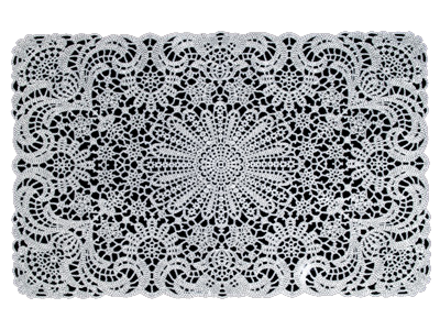 Lace Table Mats White