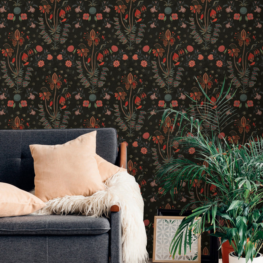 Mind The Gap Gypsy Anthracite Wallpaper