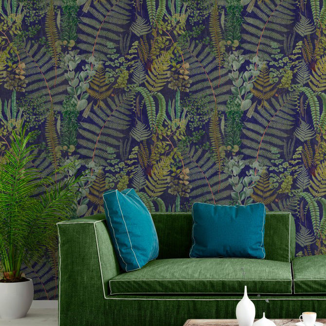 Mind The Gap Green Sancturay Anthracite Wallpaper