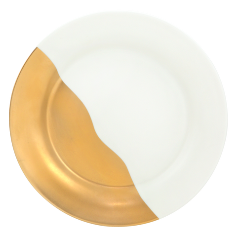 Cristina Re Side Plate Artist's Gold White
