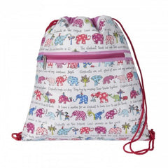 Tyrrell Katz Elephant Swimming / Drawstring / Kit Bag, , Backpack, LK Gifts, Party Twinkle | PO BOX 3145 BRIGHTON VIC 3186 AUSTRALIA | www.partytwinkle.com.au
