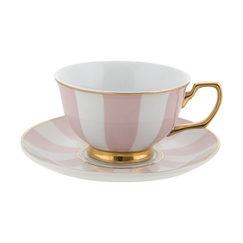 Cristina Re Teacup Stripes Blush, , High Tea, Cristina Re, Party Twinkle | PO BOX 3145 BRIGHTON VIC 3186 AUSTRALIA | www.partytwinkle.com.au  - 1