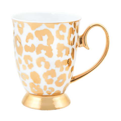 Cristina Re Mug - Louis Leopard Gold New Bone China