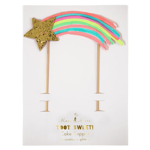 Meri Meri Rainbow Shooting Star Cake Topper ~