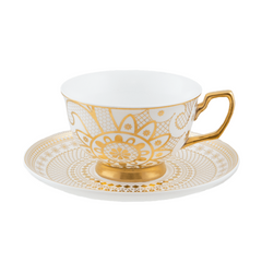 Cristina Re Teacup Georgia Lace Pearl New Bone China