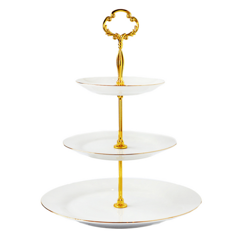 Cristina Re 3 Tier Cake Stand Ivory White
