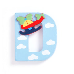 Jojo Maman Bebe - Wooden / Door Letter Primary D Blue.