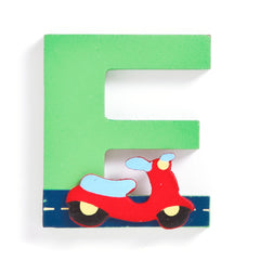 Jojo Maman Bebe - Wooden / Door Letter Primary E Green