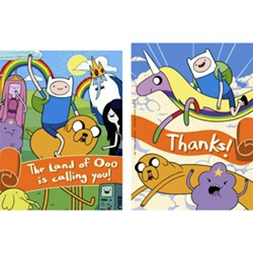 Adventure Time Invitation Thank You Party Supplies