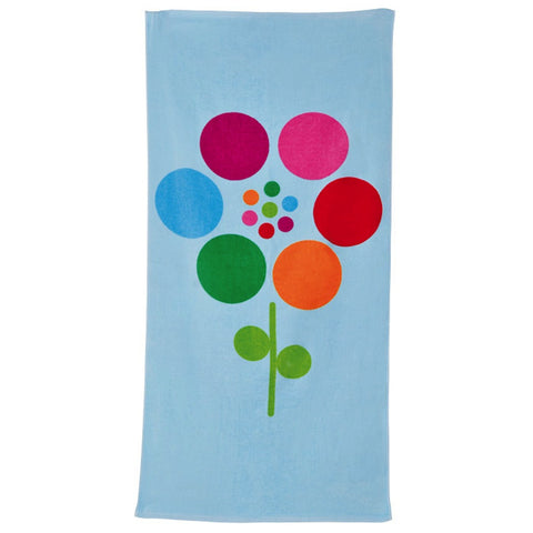 Bobble Art Flower Beach Towel, , Towel, Bobble Art, Party Twinkle | PO BOX 3145 BRIGHTON VIC 3186 AUSTRALIA | www.partytwinkle.com.au