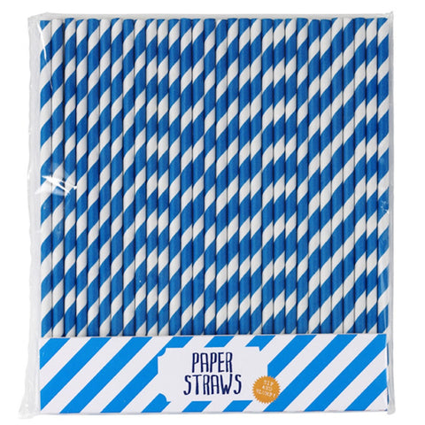 Talking Tables Blue Paper Straws (30), , Paper Straws, Talking Tables, Party Twinkle | PO BOX 3145 BRIGHTON VIC 3186 AUSTRALIA | www.partytwinkle.com.au  - 1