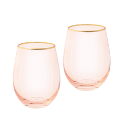 Cristina Re Tumbler Rose Crystal Set of 2