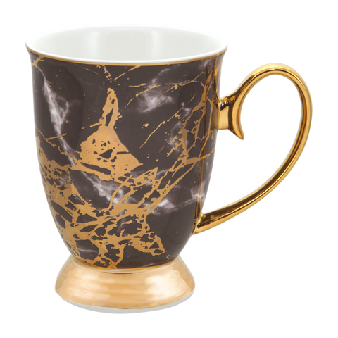 Cristina Re Mug Tourmaline - Ebony / Black and Gold
