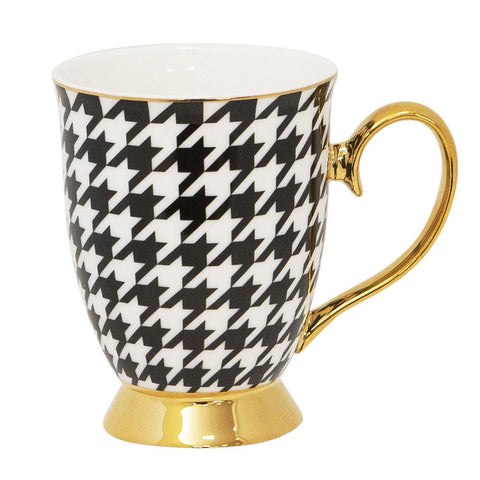 Cristina Re Mug Houndstooth New Bone China
