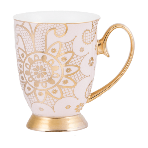Cristina Re Mug Georgia Lace Blush New Bone China