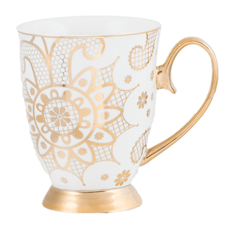 Cristina Re Mug Georgia Lace Pearl New Bone China