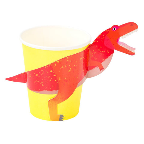 Talking Tables Party Dinosaur Cups with Wrap 8s