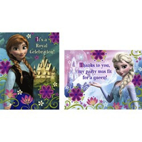 Disney Frozen 8 Invitation and 8 Thank You Cards, , Invitations, Discount Party Supplies, Party Twinkle | PO BOX 3145 BRIGHTON VIC 3186 AUSTRALIA | www.partytwinkle.com.au