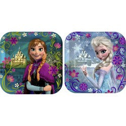 Disney Frozen 18cm Cake Plates (8), , Cake Plates, Wholesale Halloween Costumes, Party Twinkle | PO BOX 3145 BRIGHTON VIC 3186 AUSTRALIA | www.partytwinkle.com.au