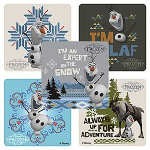 * Disney Frozen Large Stickers -  Olaf (5 per pack) / Party Favors, , Favor Bags Accessories , Discount Party Supplies, Party Twinkle | PO BOX 3145 BRIGHTON VIC 3186 AUSTRALIA | www.partytwinkle.com.au