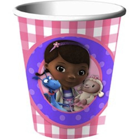 Doc McStuffins 266ml Cups (8), , Cups, Wholesale Halloween Costumes, Party Twinkle | PO BOX 3145 BRIGHTON VIC 3186 AUSTRALIA | www.partytwinkle.com.au
