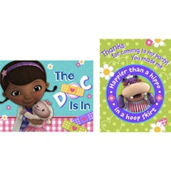 Doc McStuffins 8 Invitation and 8 Thank You Cards, , Invitations, Wholesale Halloween Costumes, Party Twinkle | PO BOX 3145 BRIGHTON VIC 3186 AUSTRALIA | www.partytwinkle.com.au