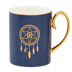 Cristina Re Mug  Dreamcatcher - Navy and Gold New Bone China