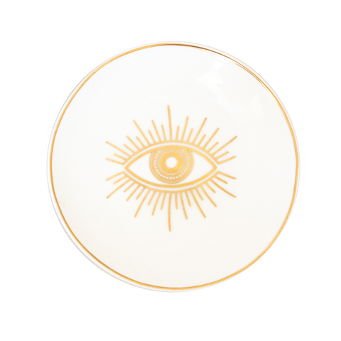Cristina Re Protective Eye Trinket Dish - Ivory & Gold