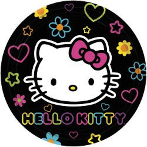 Hello Kitty 18cm Cake Plates (8), , Cake Plates, Wholesale Halloween Costumes, Party Twinkle | PO BOX 3145 BRIGHTON VIC 3186 AUSTRALIA | www.partytwinkle.com.au