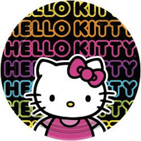 Hello Kitty 23cm Large Plates (8), , Party Plate, Wholesale Halloween Costumes, Party Twinkle | PO BOX 3145 BRIGHTON VIC 3186 AUSTRALIA | www.partytwinkle.com.au
