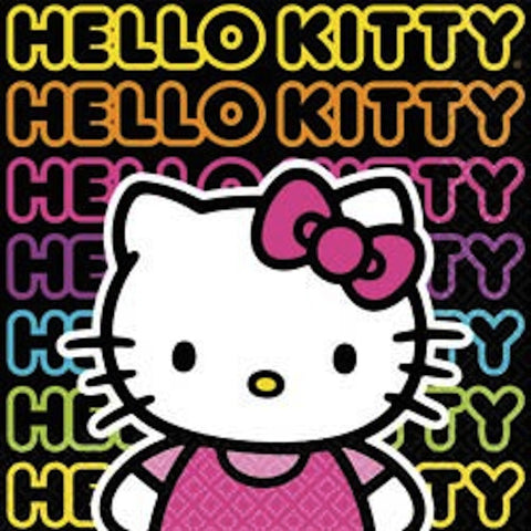 Hello Kitty Tween Beverage Napkins (16), , Napkins, Wholesale Halloween Costumes, Party Twinkle | PO BOX 3145 BRIGHTON VIC 3186 AUSTRALIA | www.partytwinkle.com.au