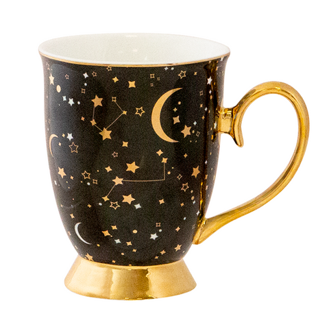 Cristina Re Mug  It's Written in the Stars Mug - Ebony and Gold