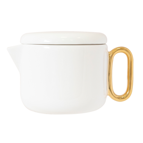 Cristina Re Celine Luxe Ivory / White Teapot (small) New Bone China