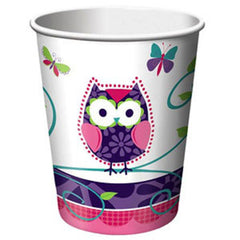 Owl Pal Birthday Cups (8), , Cups, Balloon Agencies, Party Twinkle | PO BOX 3145 BRIGHTON VIC 3186 AUSTRALIA | www.partytwinkle.com.au