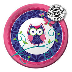 Owl Pal Birthday Dinner Plates (8), , Party Plate, Balloon Agencies, Party Twinkle | PO BOX 3145 BRIGHTON VIC 3186 AUSTRALIA | www.partytwinkle.com.au