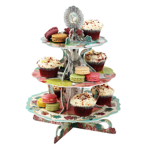 Talking Tables Pastries & Pearls Cake Stand, , Cake Stand, Talking Tables, Party Twinkle | PO BOX 3145 BRIGHTON VIC 3186 AUSTRALIA | www.partytwinkle.com.au  - 1