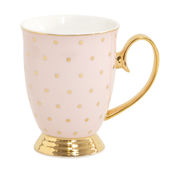 Cristina Re Mug - Polka Gold Blush / Pink New Bone China