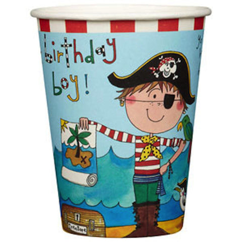 Pirate Paper Cups - pack of 8, , Cups, Rachel Ellen, Party Twinkle | PO BOX 3145 BRIGHTON VIC 3186 AUSTRALIA | www.partytwinkle.com.au