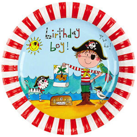 Pirate Paper Plates - Pack of 8, , Party Plate, Rachel Ellen, Party Twinkle | PO BOX 3145 BRIGHTON VIC 3186 AUSTRALIA | www.partytwinkle.com.au