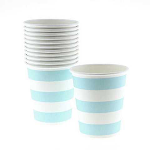 Sambellina Candy Stripe Blue Cups - pack of 12, , Cups, Sambellina, Party Twinkle | PO BOX 3145 BRIGHTON VIC 3186 AUSTRALIA | www.partytwinkle.com.au