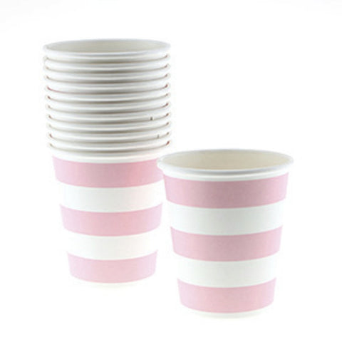 Sambellina Candy Stripe Pink Cups (12), , Cups, Sambellina, Party Twinkle | PO BOX 3145 BRIGHTON VIC 3186 AUSTRALIA | www.partytwinkle.com.au  - 1