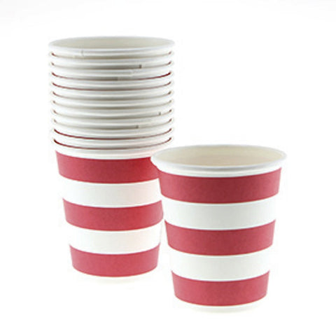 Sambellina Candy Stripe Red Cups (12), , Cups, Sambellina, Party Twinkle | PO BOX 3145 BRIGHTON VIC 3186 AUSTRALIA | www.partytwinkle.com.au  - 1