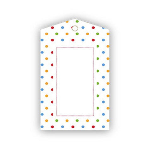 Sambellina Polkadot Multi-Coloured Gift Tags (12), , Gift Tags, Sambellina, Party Twinkle | PO BOX 3145 BRIGHTON VIC 3186 AUSTRALIA | www.partytwinkle.com.au