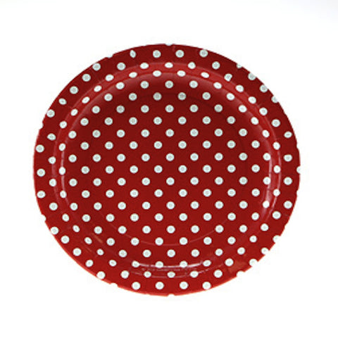 Sambellina Red Polkadot Party Plates (12), , Party Plate, Sambellina, Party Twinkle | PO BOX 3145 BRIGHTON VIC 3186 AUSTRALIA | www.partytwinkle.com.au