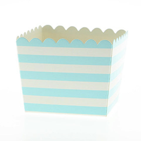 * Sambellina Blue Stripe Scallop Party Favour Boxes (6), , Favour Box, Sambellina, Party Twinkle | PO BOX 3145 BRIGHTON VIC 3186 AUSTRALIA | www.partytwinkle.com.au